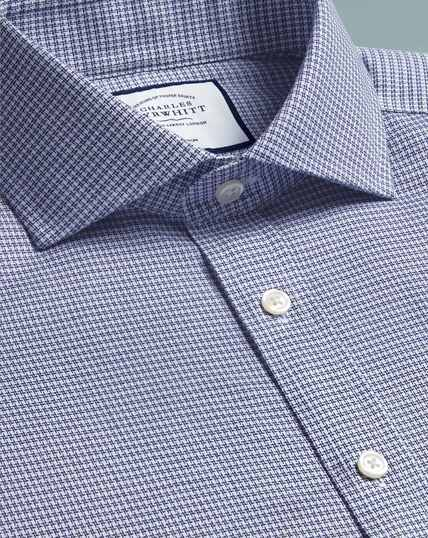Cutaway Non-Iron Cotton Stretch Shirt - Navy