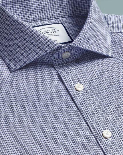 Spread Non-Iron Cotton Stretch Shirt - Navy