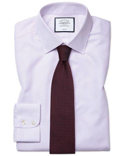 Bügelfreies Classic Fit Hemd aus Dash-Gewebe in Lila