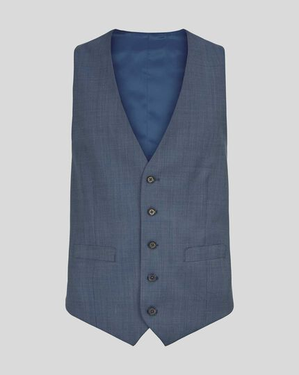 Gilet de costume texturé - Bleu clair