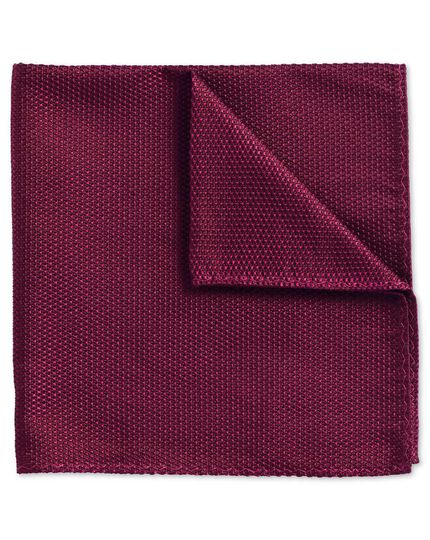 Berry classic plain pocket square