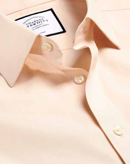 Non-Iron Poplin Shirt - Peach