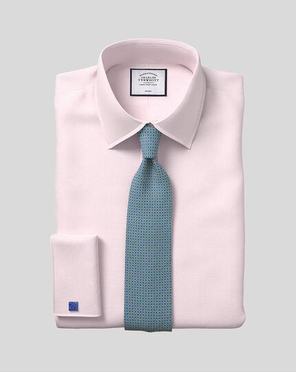 Bügelfreies Hemd mit Kent-Kragen und Micro-Diamond-Muster - Rosa
