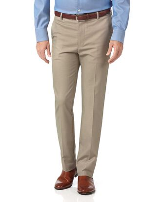 Pantalon gris clair slim fit en tissu stretch sans repassage