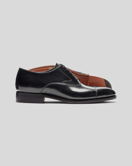 Made In England Oxford Flex Sole Shoe  - Black