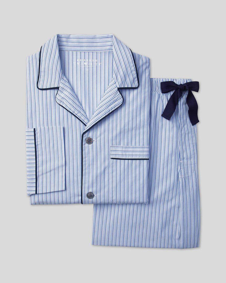 Stripe Pyjama Set - Sky & Navy