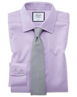 Bügelfreies Slim Fit Hemd aus Triangle Gewebe in Flieder