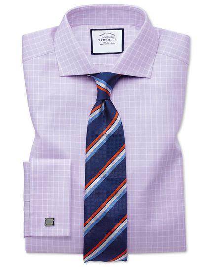 Navy and orange reppe stripe English luxury tie
