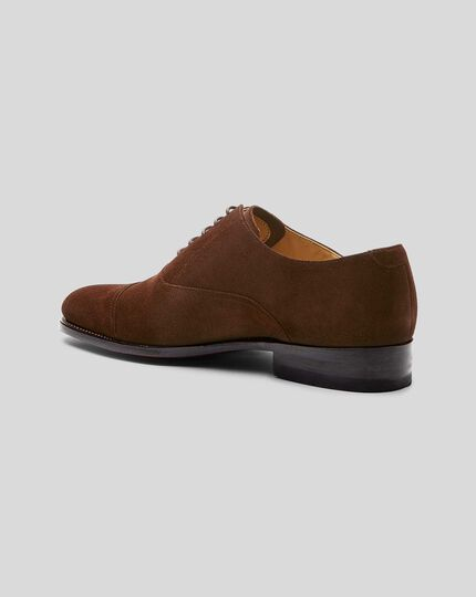 Goodyear Welted Oxford Toe Cap Shoe  - Brown