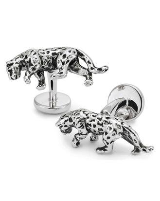 Jaguar-Manschettenknöpfe in Antik-Optik