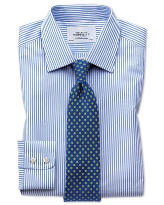Extra slim fit Bengal stripe sky blue shirt