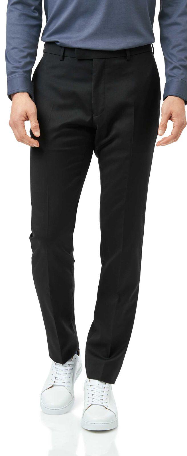 Black slim fit Italian natural stretch suit
