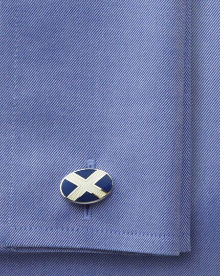 St Andrews flag enamel cufflinks
