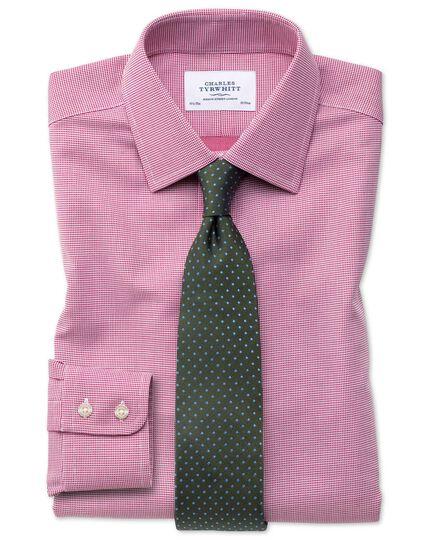 Extra slim fit non-iron square weave magenta shirt