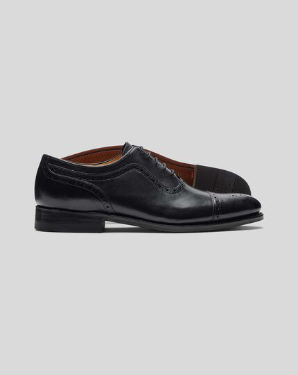 Goodyear Welted Oxford Brogue Shoe - Black