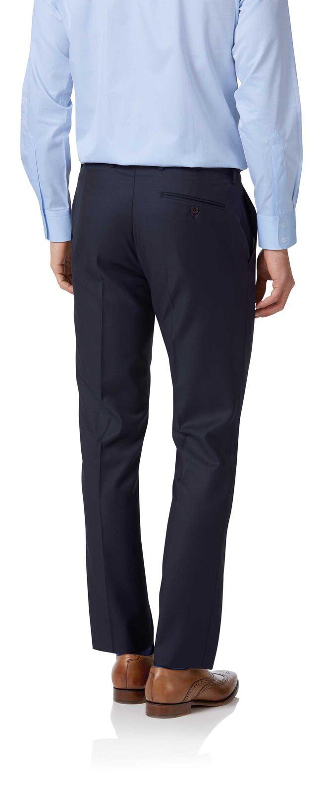 Navy slim fit twill Italian luxury suit