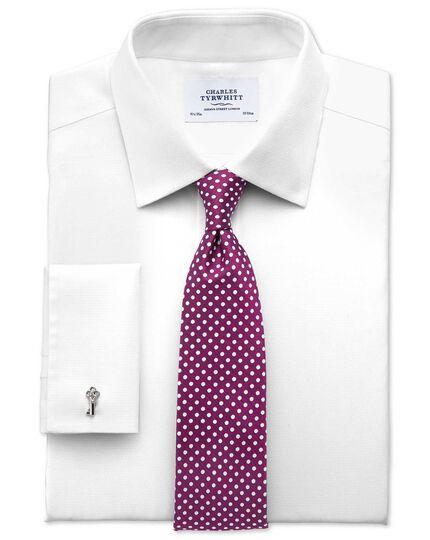 Bügelfreies Extra Slim Fit Hemd in Weiß mit Imperial-Webstrukturen