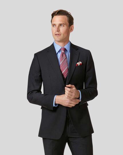 Twill Business Suit Jacket - Black