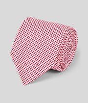 Cravate classique en soie à pois - Rouge