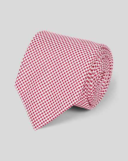 Klassische Krawatte aus Seide mit Punkten - Rot