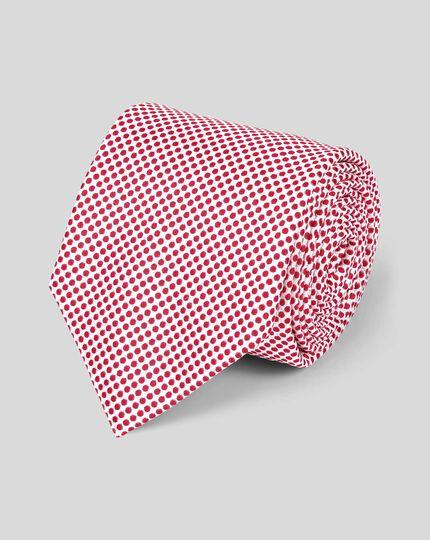 Silk Classic Spot Tie - Red