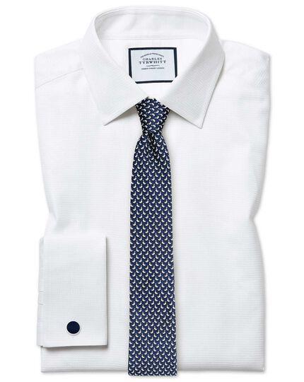 Extra slim fit Egyptian cotton chevron white shirt