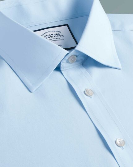 Classic fit cutaway non-iron natural cool sky blue shirt