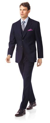 Navy classic fit British luxury suit