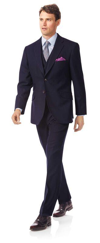 Luxuriöser britischer Anzug Classic Fit Marineblau
