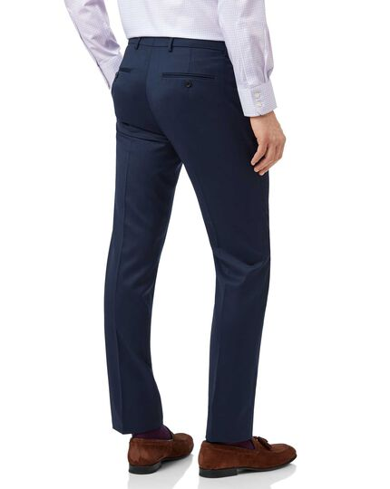 Mid blue extra slim fit Italian natural stretch suit trousers