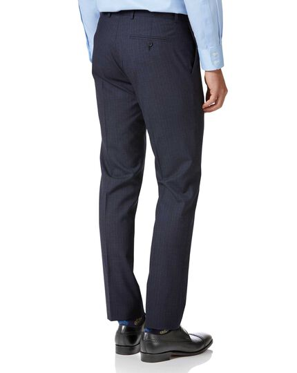 Blue stripe slim fit twist business suit pants