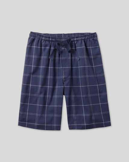 Check Pyjama Shorts - Navy & White