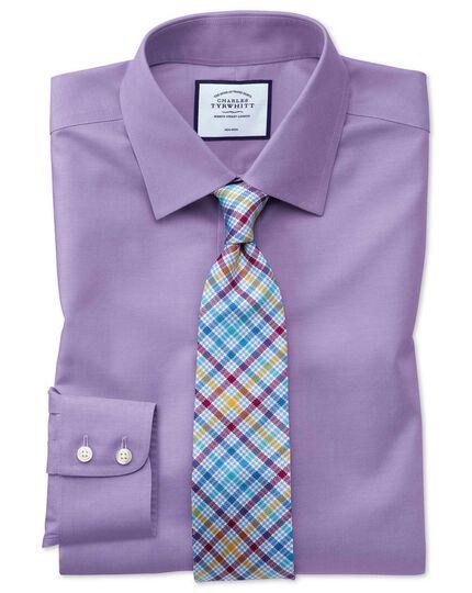 Lilac non-iron twill classic fit