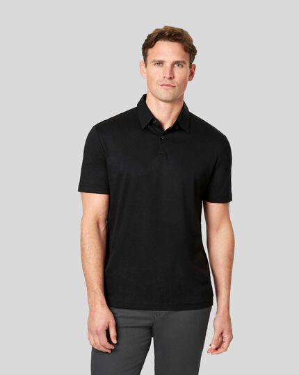 Smartes Jersey-Polo - Schwarz