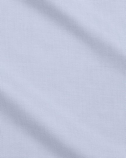 Non-Iron Step Weave Shirt - Mid-Blue