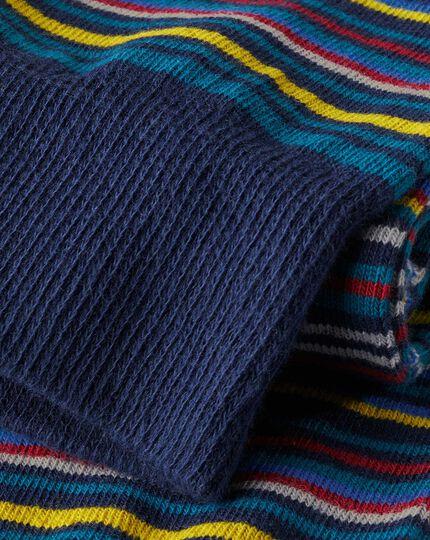 Multi Stripe Socks - Teal