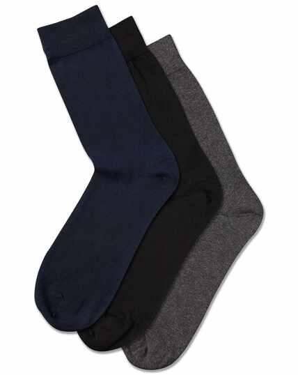 Lot de 3paires de chaussettes multicolores en coton majoritaire