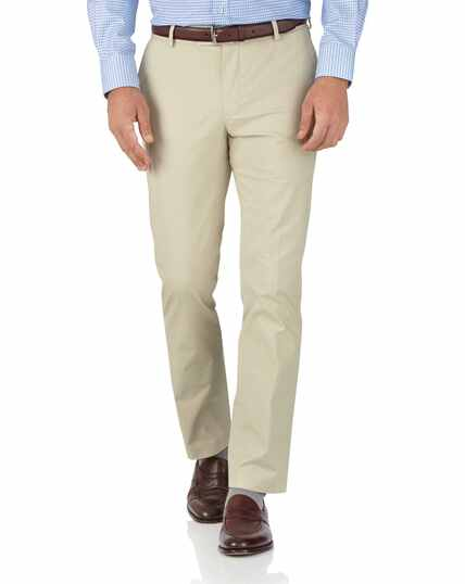 Pantalon chino gris clair slim fit en tissu stretch