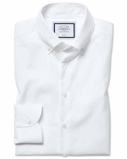 Slim fit business casual non-iron white shirt