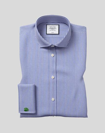 Cutaway Collar Non-Iron Bengal Stripe Shirt - Navy