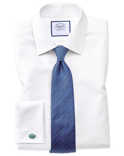 Blue multi silk English luxury tie