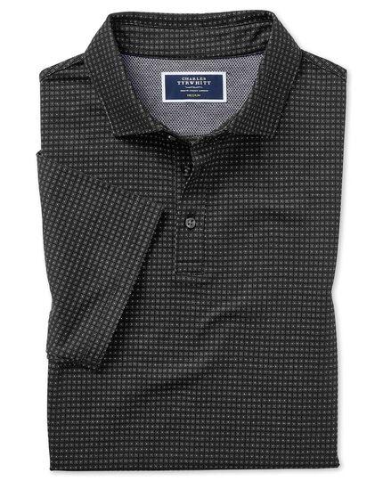 Polo texturé noir