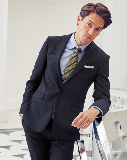 Midnight blue extra slim fit Merino business suit jacket