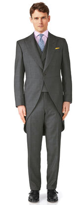 Dark grey classic fit morning suit