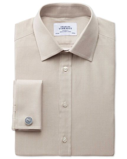 Classic fit Oxford stone shirt