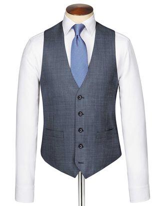 Light blue adjustable fit sharkskin travel suit vest
