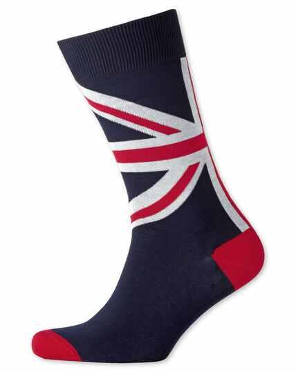 Socken mit Union-Jack-Design