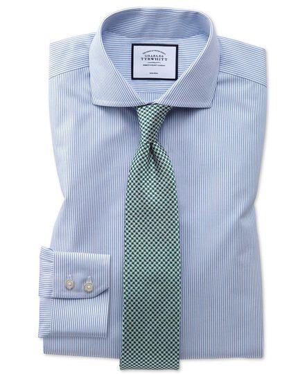 Bügelfreies Extra Slim Fit Natural Cool Hemd mit Streifen in Blau