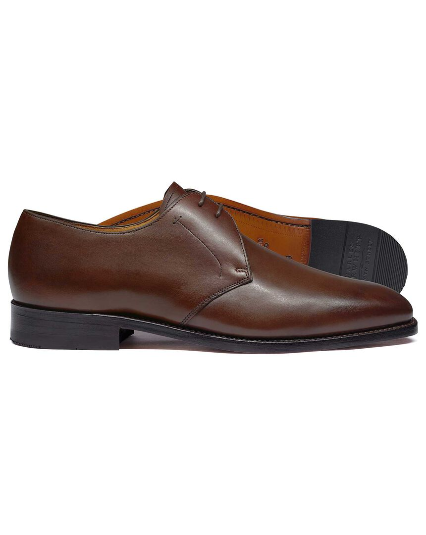 Brown Goodyear welted 2 eyelet Derby shoes