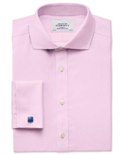 Classic fit cutaway non-iron twill pink shirt
